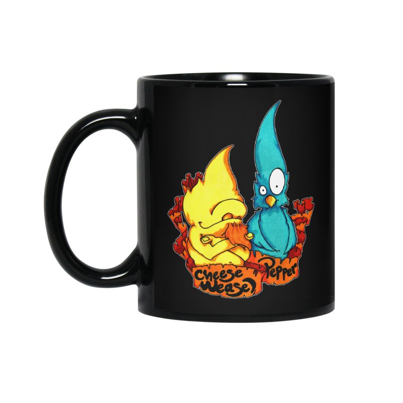 Cheese Weasel & Pepper Accessories Standard Mug by Norman Wilkerson Designs