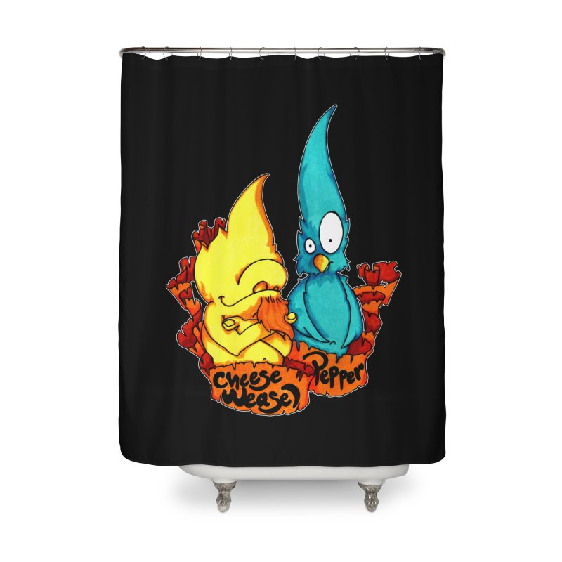 Cheese Weasel & Pepper Home Shower Curtain by Norman Wilkerson Designs