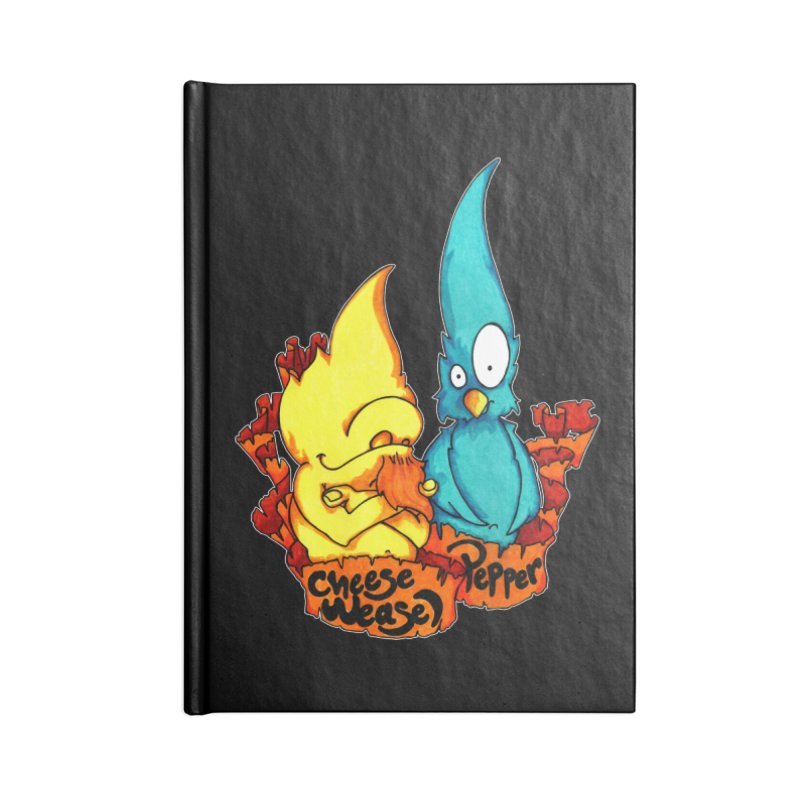 Cheese Weasel & Pepper Accessories Notebook by Norman Wilkerson Designs