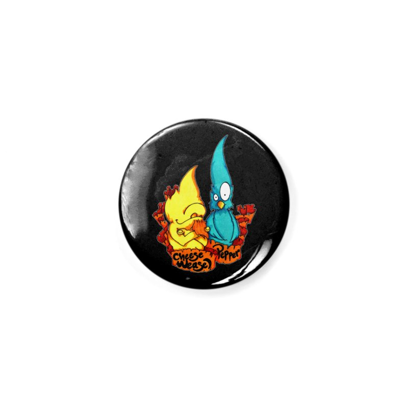 Cheese Weasel & Pepper Accessories Button by Norman Wilkerson Designs