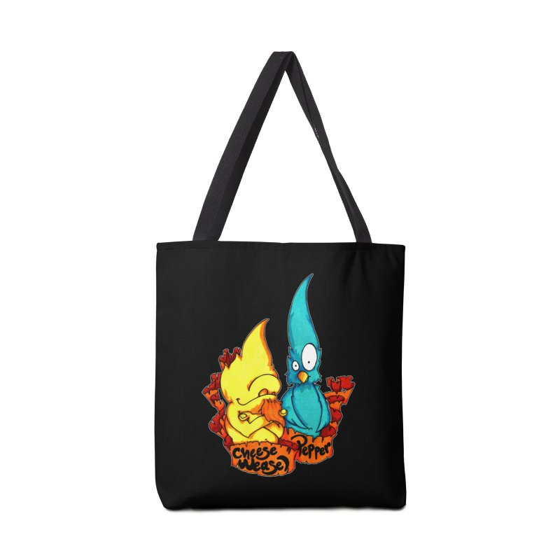 Cheese Weasel & Pepper Accessories Tote Bag Bag by Norman Wilkerson Designs