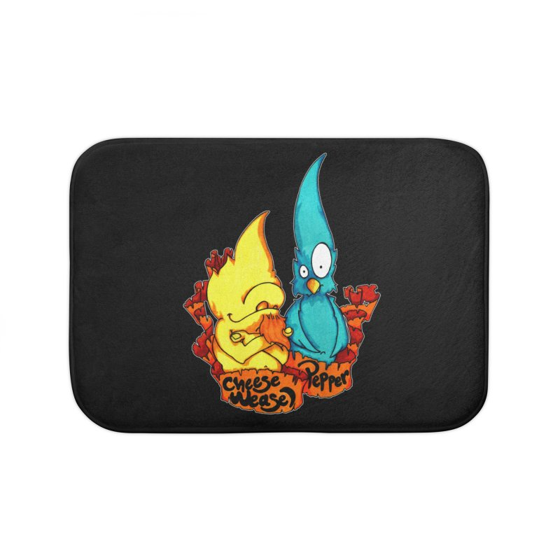 Cheese Weasel & Pepper Home Bath Mat by Norman Wilkerson Designs