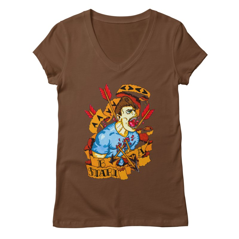 The Code Women's Regular V-Neck by Norman Wilkerson Designs