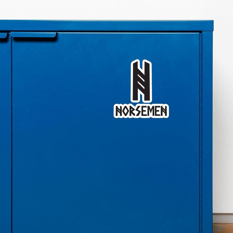 Norsemen w/logo Black Accessories Magnet by Official Norsemen Shop