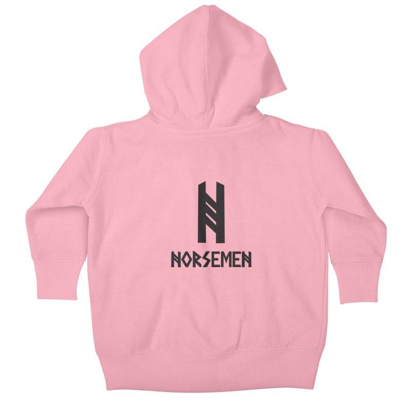 Norsemen w/logo Black Kids Baby Zip-Up Hoody by Official Norsemen Shop