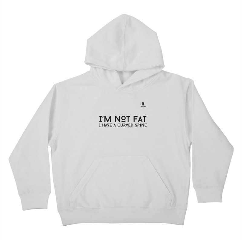 I'm not fat - Black Kids Pullover Hoody by Official Norsemen Shop