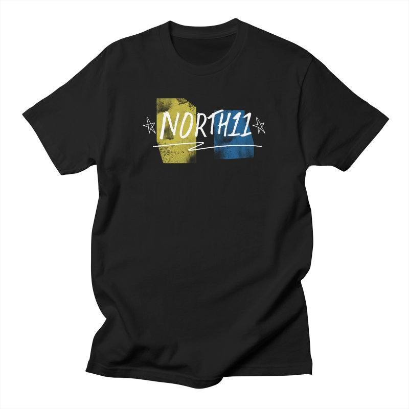 Yellow & Blue Men's Regular T-Shirt by North11's Shop