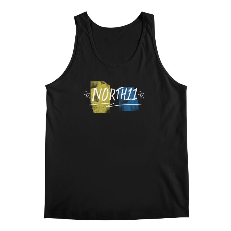 Yellow & Blue Men's Regular Tank by North11's Shop
