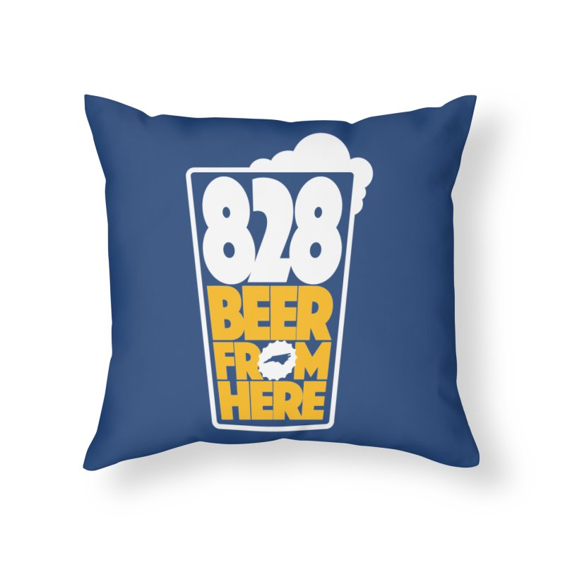 828 Beer From Here Home Throw Pillow by North Craftolina