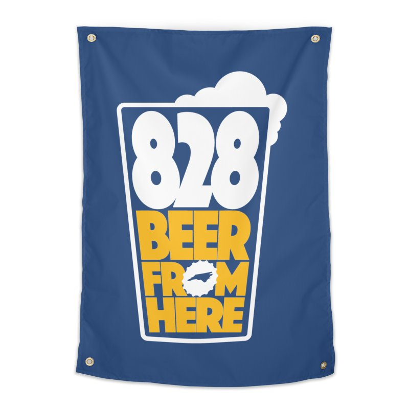 828 Beer From Here Home Tapestry by North Craftolina