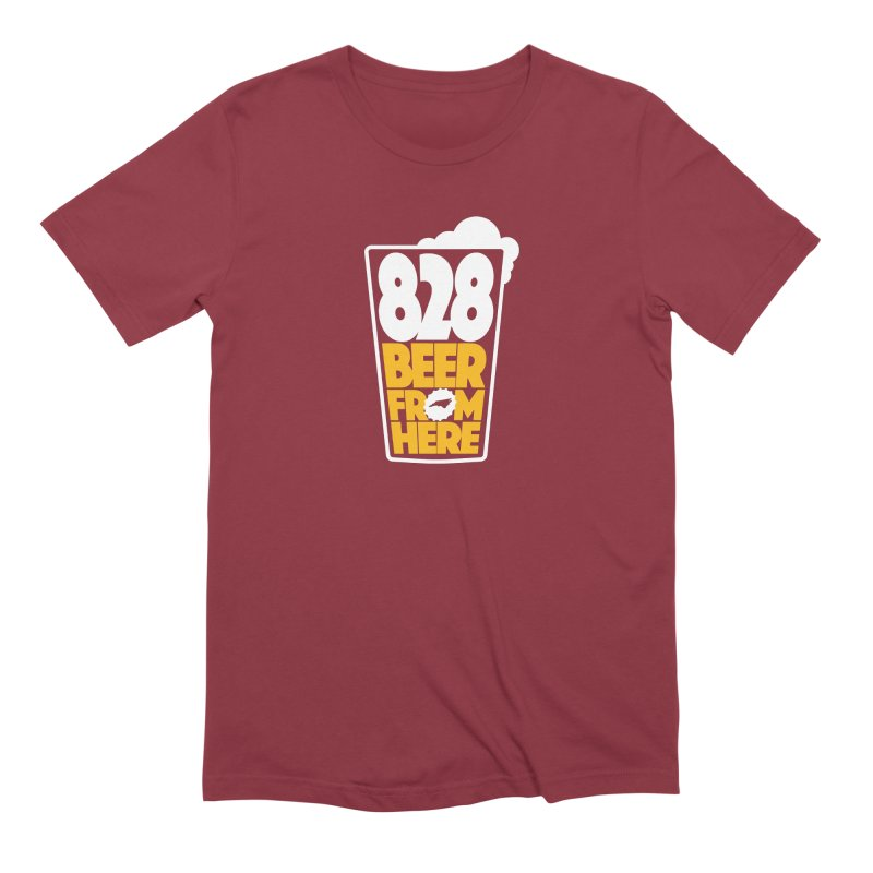 828 Beer From Here Men's Extra Soft T-Shirt by North Craftolina