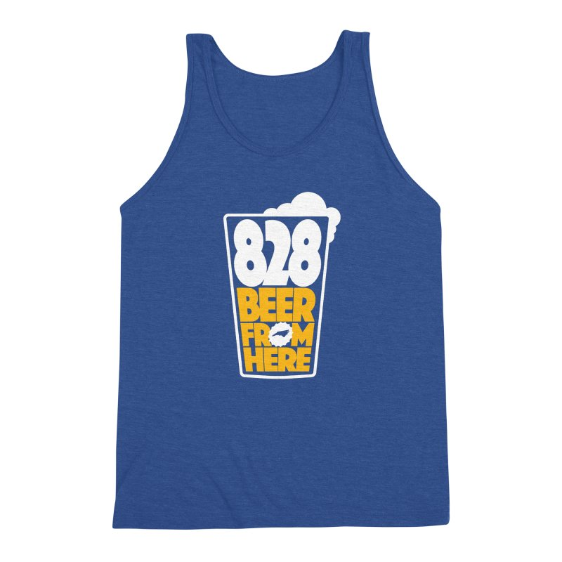 828 Beer From Here Men's Triblend Tank by North Craftolina