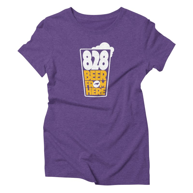 828 Beer From Here Women's Triblend T-Shirt by North Craftolina