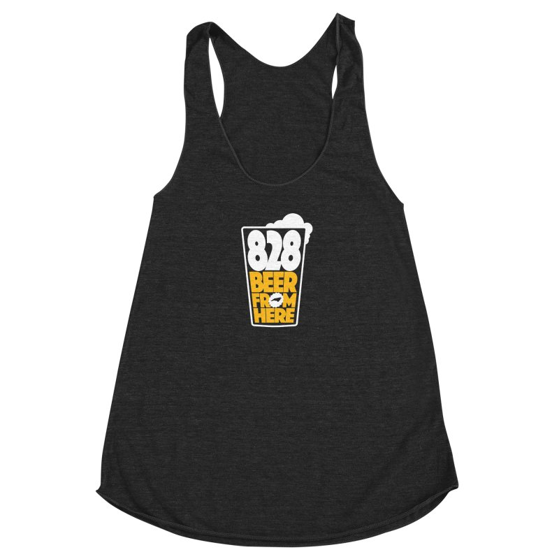 828 Beer From Here Women's Racerback Triblend Tank by North Craftolina