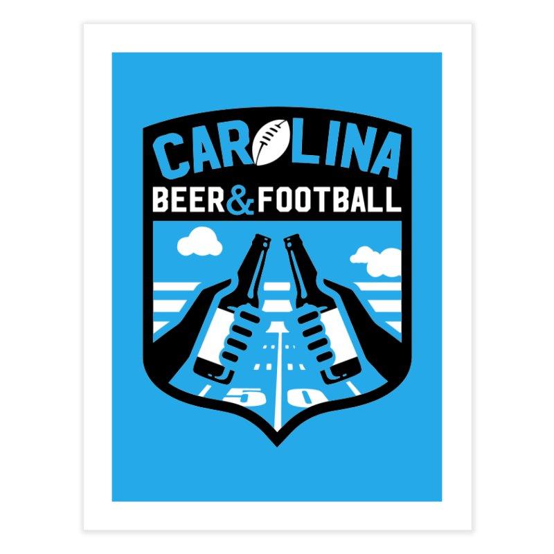 Carolina Beer And Football Home Fine Art Print by North Craftolina