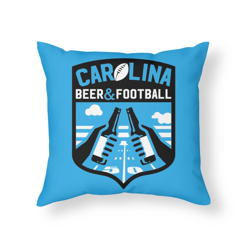 Carolina Beer And Football Home Throw Pillow by North Craftolina