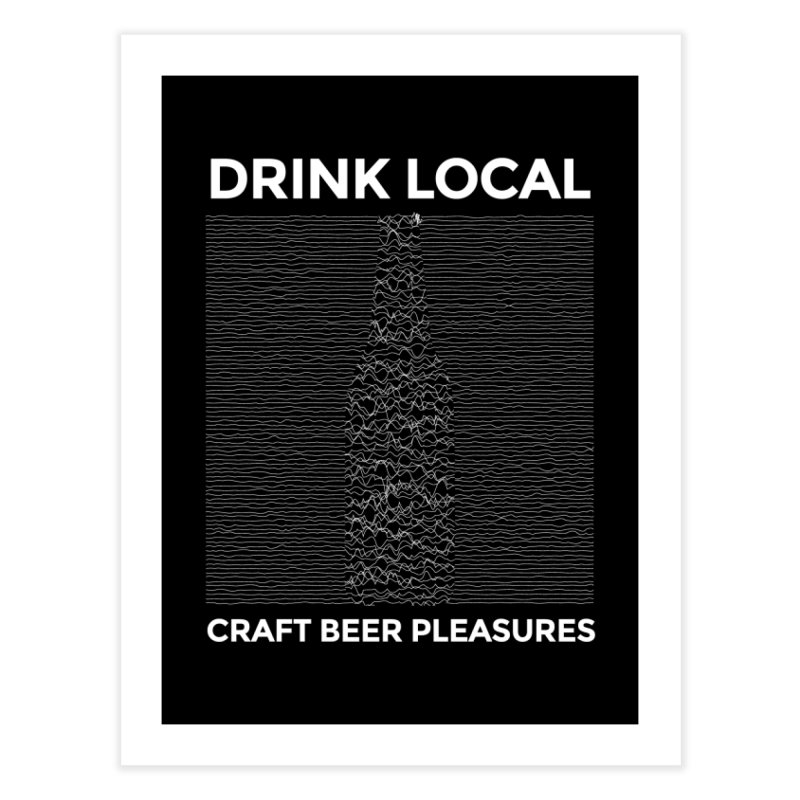 Craft Beer Pleasures Home Fine Art Print by North Craftolina