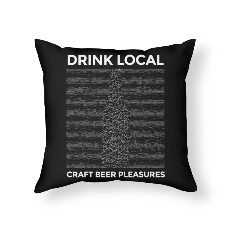 Craft Beer Pleasures Home Throw Pillow by North Craftolina