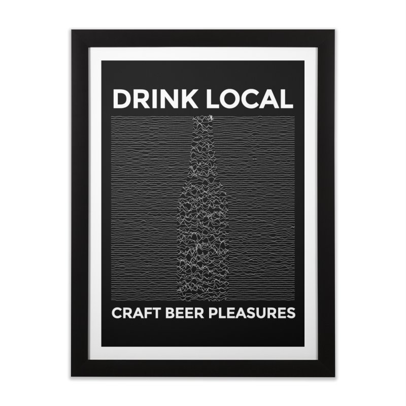 Craft Beer Pleasures Home Framed Fine Art Print by North Craftolina