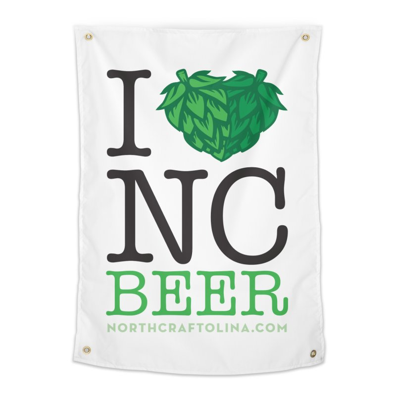 I Hops NC Beer Home Tapestry by North Craftolina