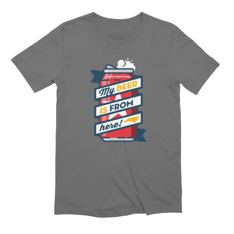 My Beer Is From Here Can Men's T-Shirt by North Craftolina