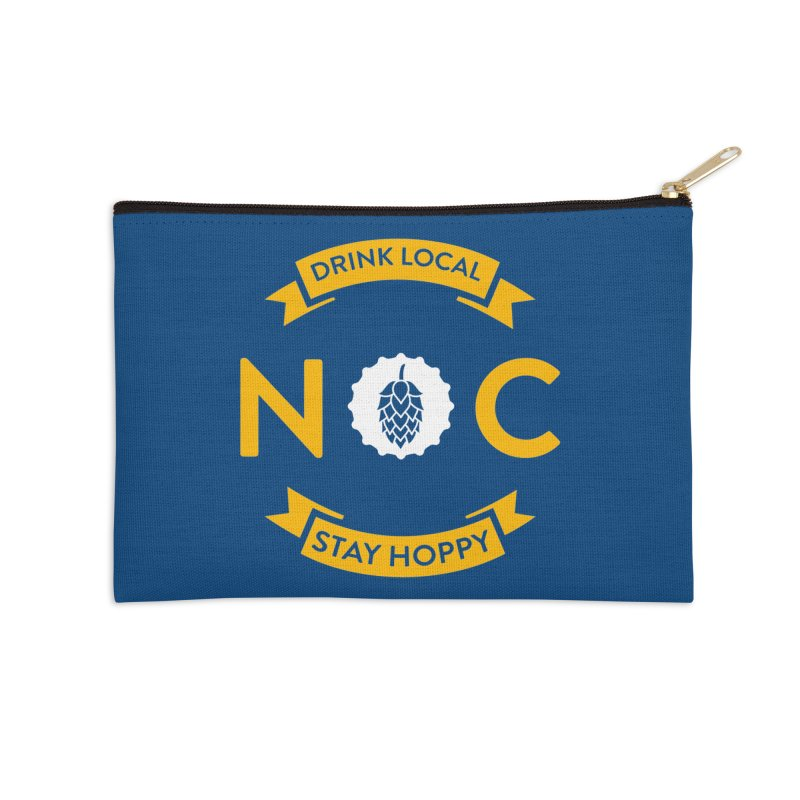 NC Drink Local Stay Hoppy Accessories Zip Pouch by North Craftolina