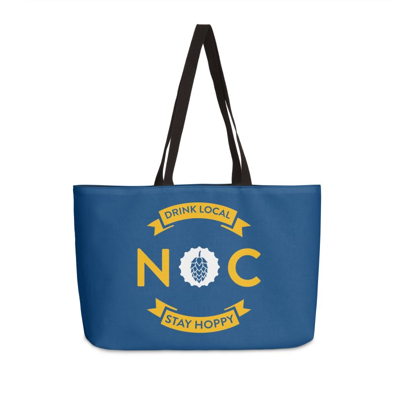 NC Drink Local Stay Hoppy Accessories Weekender Bag Bag by North Craftolina