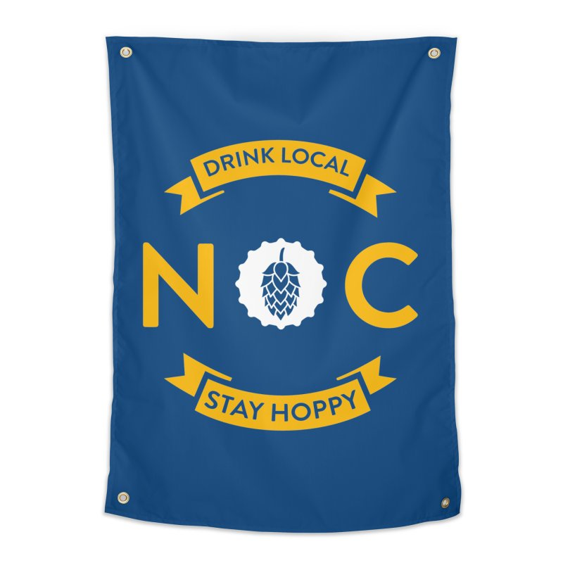 NC Drink Local Stay Hoppy Home Tapestry by North Craftolina