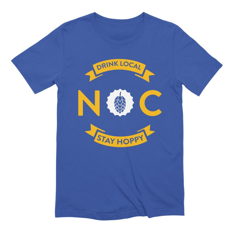 NC Drink Local Stay Hoppy Men's T-Shirt by North Craftolina