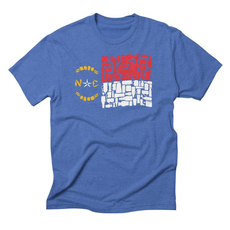 NC Bottle Flag Men's T-Shirt by North Craftolina