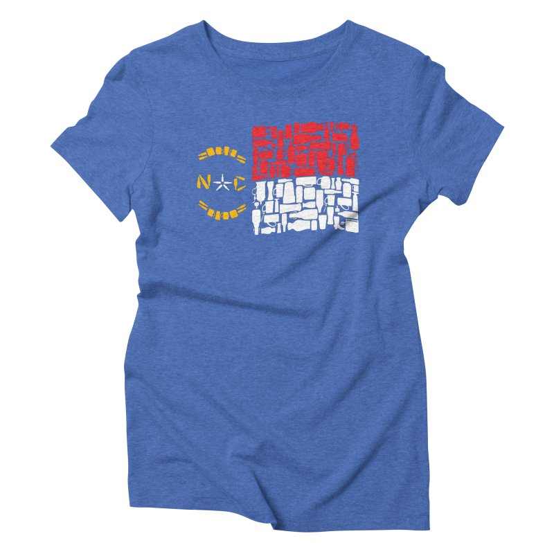 NC Bottle Flag Women's Triblend T-Shirt by North Craftolina