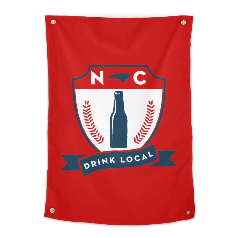 Drink Local Badge Home Tapestry by North Craftolina