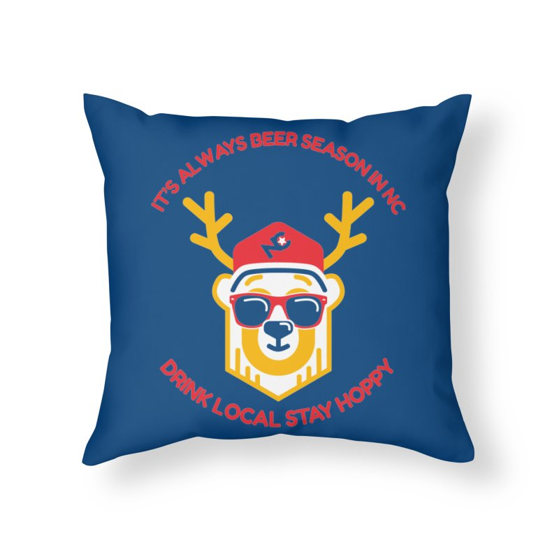 It's Always Beer Season Home Throw Pillow by North Craftolina
