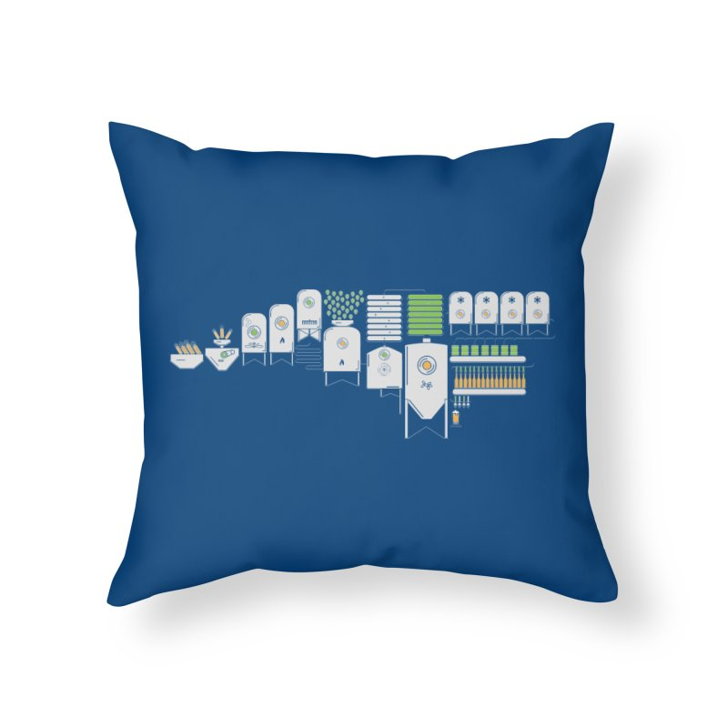 The Process Home Throw Pillow by North Craftolina