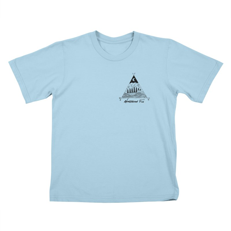 River Wave Kids T-Shirt by northernfin's Artist Shop