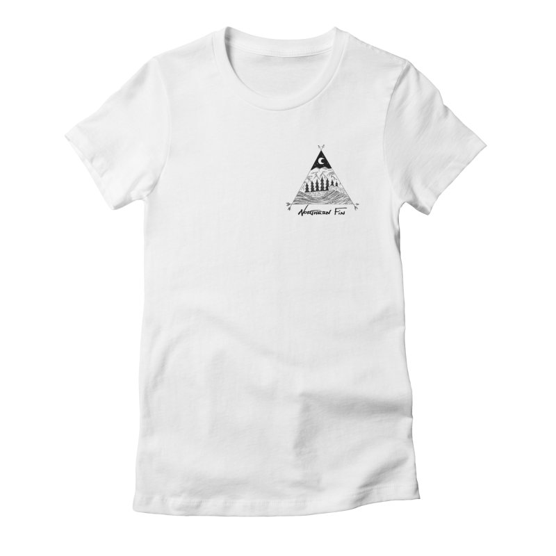 River Wave Women's Fitted T-Shirt by northernfin's Artist Shop