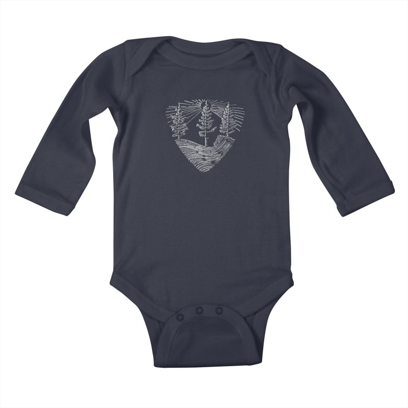 Tree Wave Kids Baby Longsleeve Bodysuit by northernfin's Artist Shop