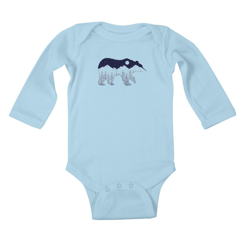 Ursa Major Kids Baby Longsleeve Bodysuit by northernfin's Artist Shop