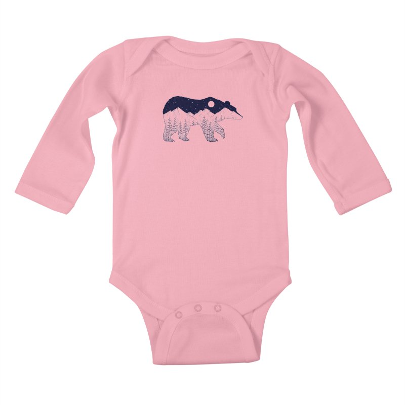 Ursa Major Kids Baby Longsleeve Bodysuit by northernfin's Artist Shop