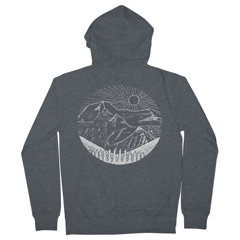 Mount Robson Women's French Terry Zip-Up Hoody by northernfin's Artist Shop