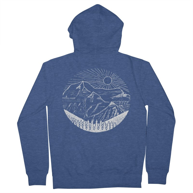 Mount Robson Men's French Terry Zip-Up Hoody by northernfin's Artist Shop