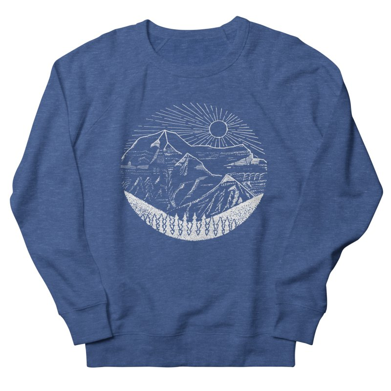 Mount Robson Women's French Terry Sweatshirt by northernfin's Artist Shop