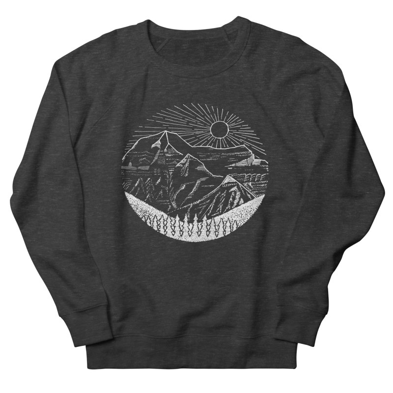 Mount Robson Men's French Terry Sweatshirt by northernfin's Artist Shop