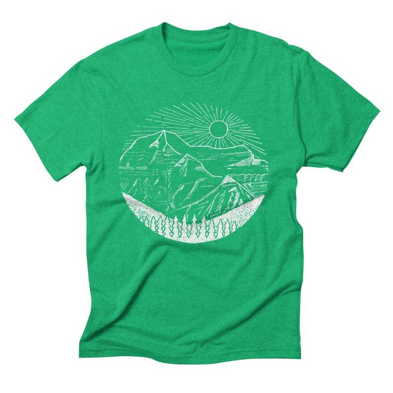 Mount Robson Men's Triblend T-Shirt by northernfin's Artist Shop