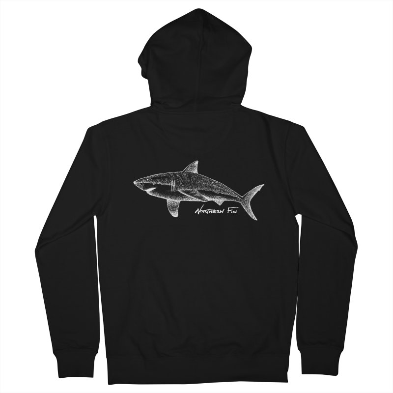 Shark Men's French Terry Zip-Up Hoody by northernfin's Artist Shop