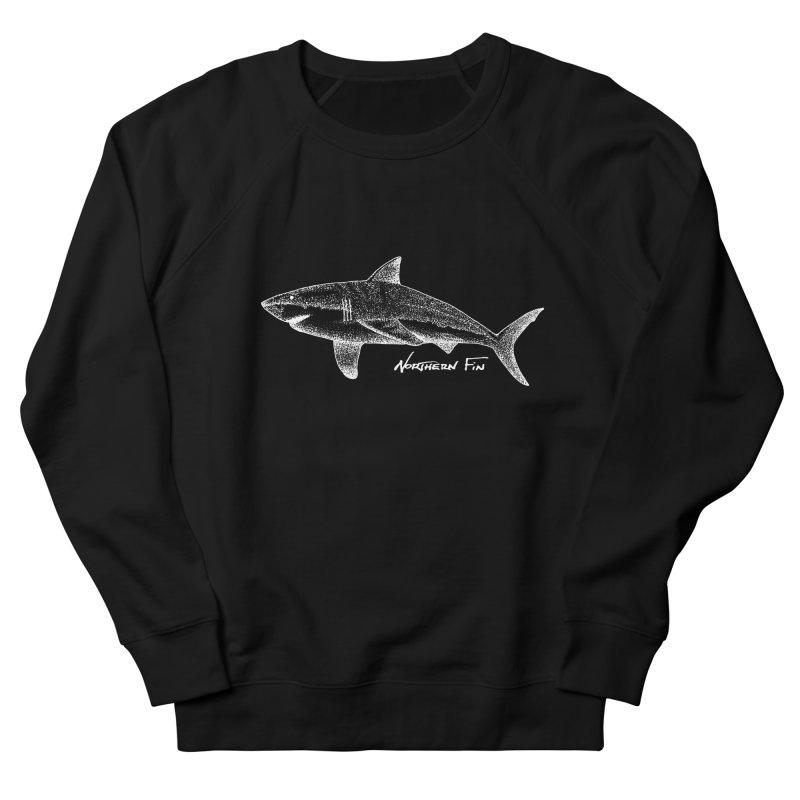 Shark Men's French Terry Sweatshirt by northernfin's Artist Shop