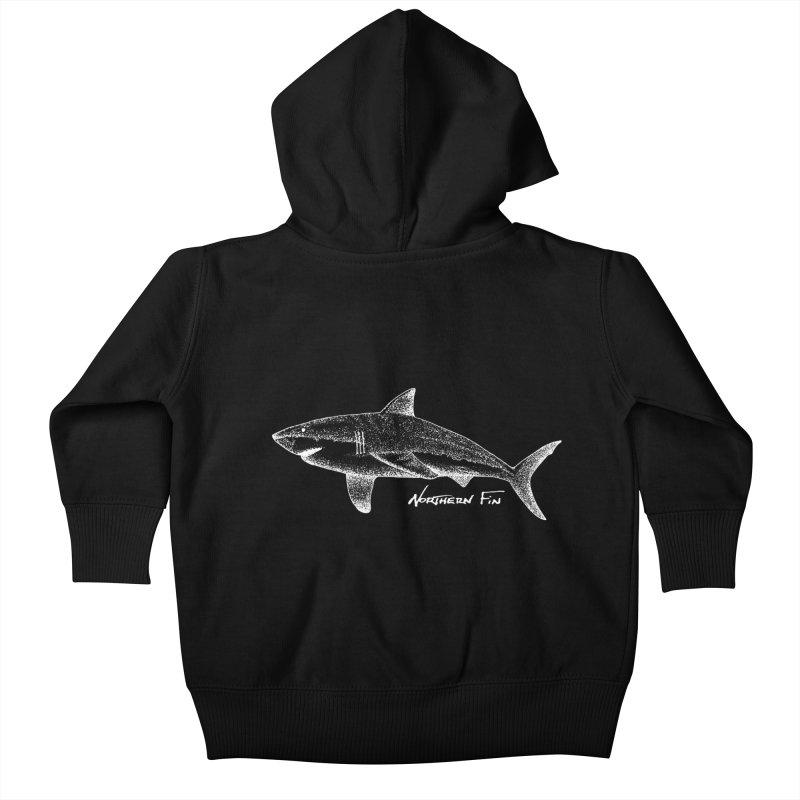Shark Kids Baby Zip-Up Hoody by northernfin's Artist Shop