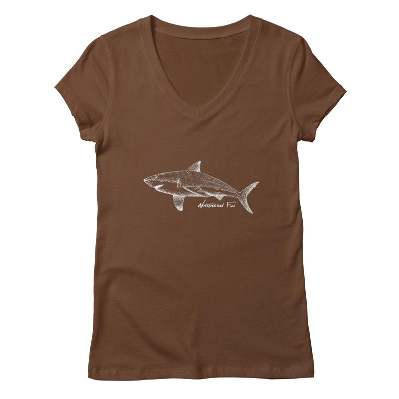 Shark Women's Regular V-Neck by northernfin's Artist Shop