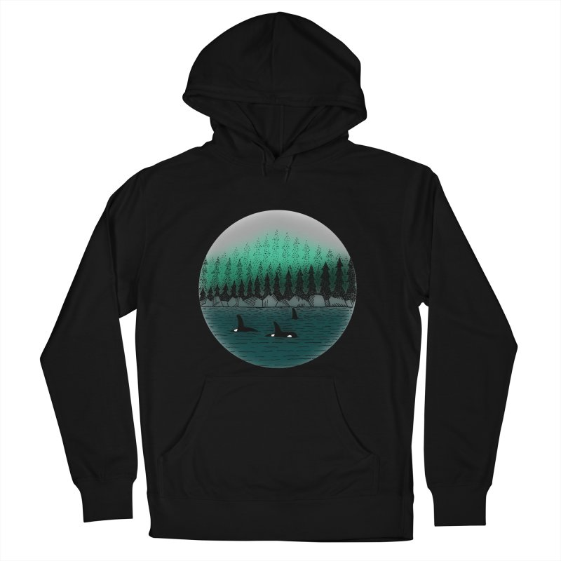 Orcas Women's French Terry Pullover Hoody by northernfin's Artist Shop