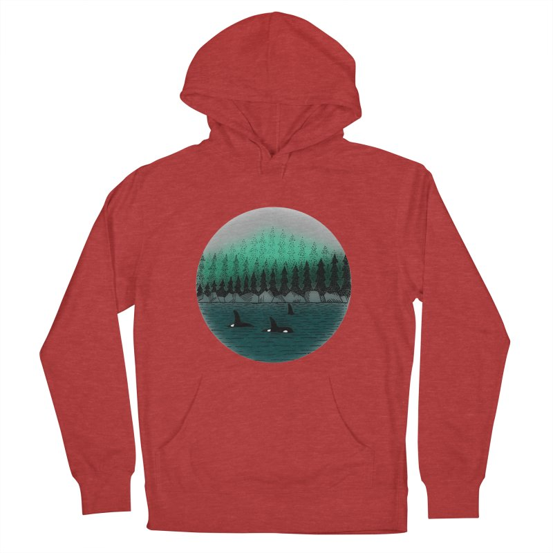 Orcas Men's French Terry Pullover Hoody by northernfin's Artist Shop